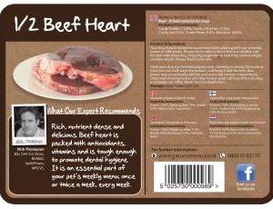 Raw Chews Half Beef Heart