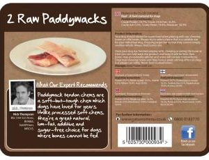 Raw Chews Paddywack 400g