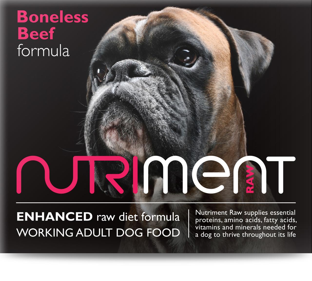 Nutriment Boneless Beef Formula Raw Dog 500g