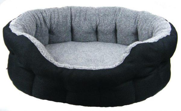Oval Black Basket Weave Bed Size 4