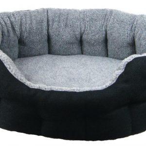 Oval Black Basket Weave Bed Size 5