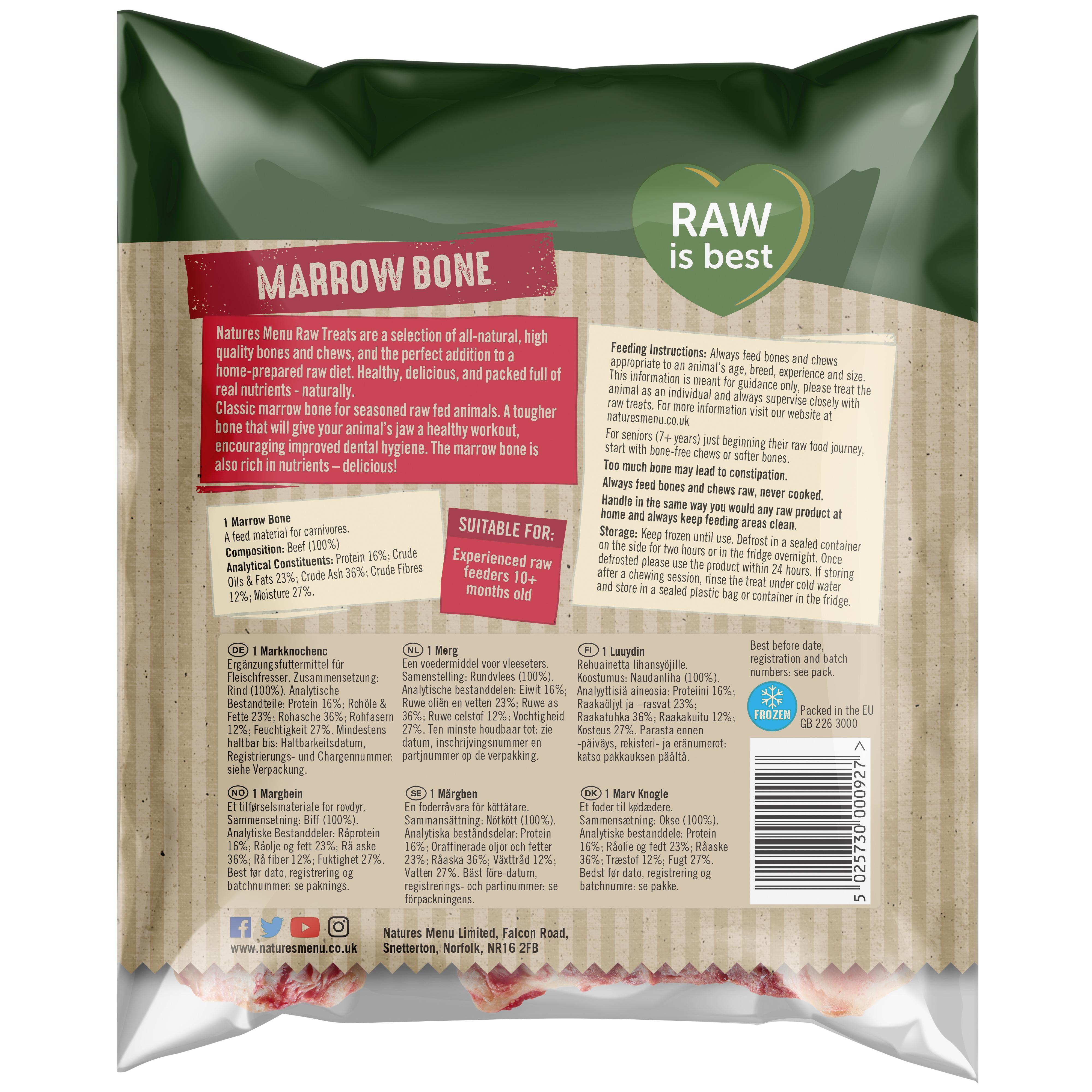 Raw Chews Beef Marrow Bone