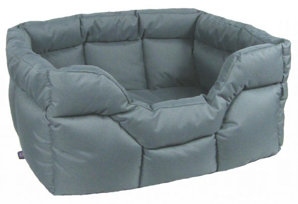 Rectangular Waterproof Bed Medium Grey