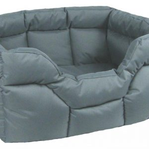 Rectangular Waterproof Bed Jumbo Grey