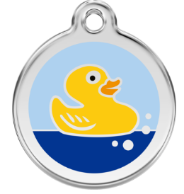 Rubber Duck Enamel Pet Tag Medium
