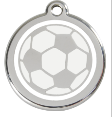 Soccer Ball Enamel Pet Tag Medium