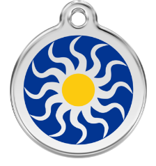 Tribal Sun Enamel Pet Tag Medium