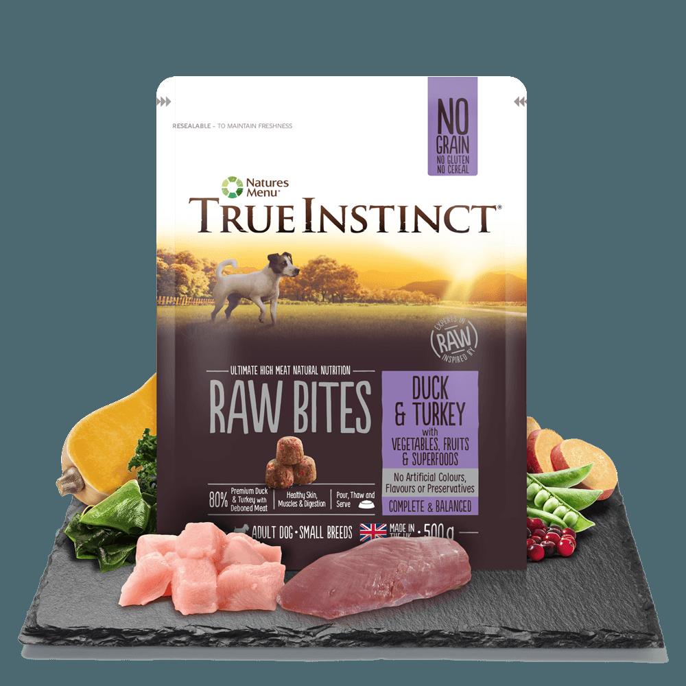 True Instinct Small Breed Raw Bites Duck and Turkey 500g