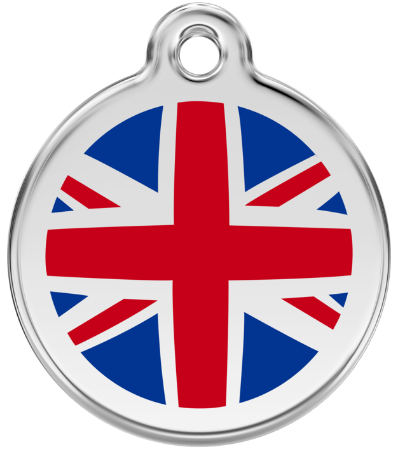 Union Jack Enamel Pet Tag Medium