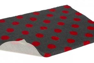 Vetbed Non Slip Charcoal with Red Polka Dot