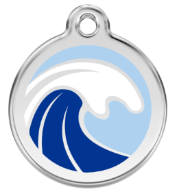 Wave Enamel Pet Tag Medium